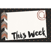 Already There- This Week Chevron Journal Card