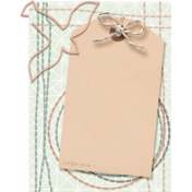 Already There- Stitched Journal Card With Tag and Dove Clip