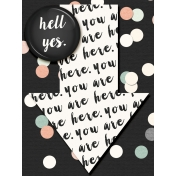 Already There- Yes, You Are Here Arrow Journal Card