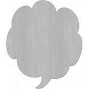 Speech Bubble 2 Veneer Template