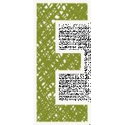 Bright Days Alpha- Scribble Sticker E