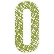 Bright Days Alpha- Scribble Sticker O