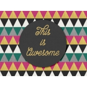 Bright Days Filler- Awesome Horizontal Journal Card