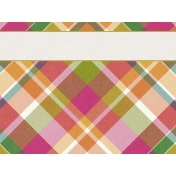 Bright Days Filler- Plaid Journal Card (Horizontal)