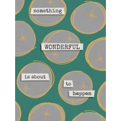 Bright Days Filler- Wonderful Journal Card (Vertical)