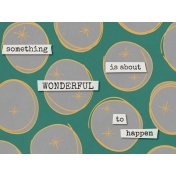 Bright Days Filler- Wonderful Journal Card (Horizontal)