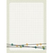 Bright Days Grid- Green Grid Journal Card (V)