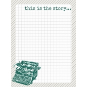 Bright Days Grid- Grey Grid Journal Card (V)