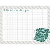 Bright Days Grid- Grey Grid Journal Card (H)