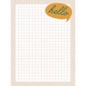 Bright Days Grid- Hello Journal Card (V)