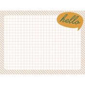 Bright Days Grid- Hello Journal Card (H)