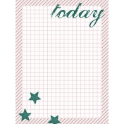 Bright Days Grid- Today Journal Card (V)