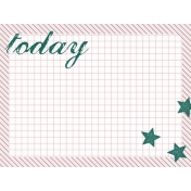 Bright Days Grid- Today Journal Card (H)