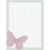 Bright Days Grid- Butterfly Journal Card (V)