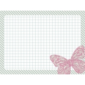 Bright Days Grid- Butterfly Journal Card (H)