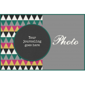 Circle Journal Card 4x6 Template 01