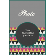 Circle Journal Card 4x6 Template 01b