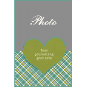 Heart Journal Card 4x6 Template 01b