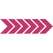 Bright Days- Pink Chevron Arrow