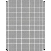 Pocket Basics Grid Neutrals- Dark Grey 3x4 (round)