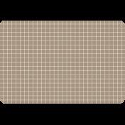 Pocket Basics Grid Neutrals- Brown2 4x6 (round)