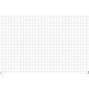 Pocket Basics Grid Neutrals- Dark Grey 4x6 (round)