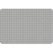 Pocket Basics Grid Neutrals- Dark Grey2 4x6 (round)