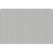 Pocket Basics Grid Neutrals- Light Grey2 4x6 (round)