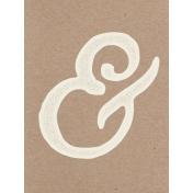 Pocket Basics Kraft- Ampersand Journal Card