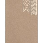 Pocket Basics Kraft- Banner Journal Card