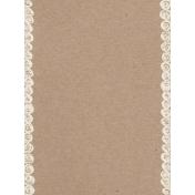 Pocket Basics Kraft- Doodle Border Journal Card