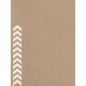 Pocket Basics Kraft- Chevron Journal Card