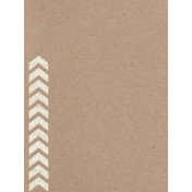 Pocket Basics Kraft- Chevron Journal Card