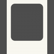 Pocket Basics Photo Overlays- Polaroid Overlay 3x4 (Rounded Photo Spot)