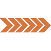 Bright Days- Dark Orange Chevron Arrow