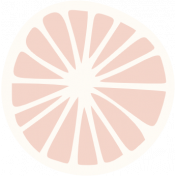 Already There Pale Pink Citrus Sticker