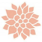 Already There Peach Dahlia Sticker
