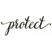 Already There Protect Word Sticker