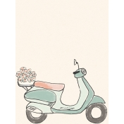 Already There Journal Card 1- Vespa