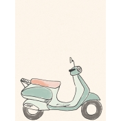 Already There Journal Card 1- Vespa w/o Basket