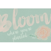 Already There Journal Card 2- Bloom