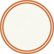 Bright Days- Orange Circle Label