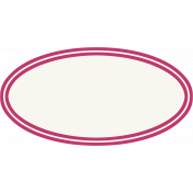 Bright Days- Pink Oval Label