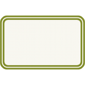 Bright Days- Green Rounded Rectangle