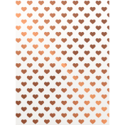Already There Copper Vellum Hearts Journal Card