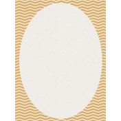 Bright Days Chevron Oval Journal Card (Vertical)