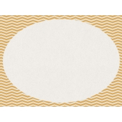 Bright Days Chevron Oval Journal Card (Horizontal)