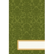 Bright Days Title Cards- Green Damask (Vertical)