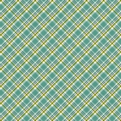 Bright Days- Blue Plaid Paper
