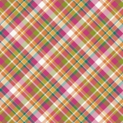 Bright Days- Pink Plaid Paper